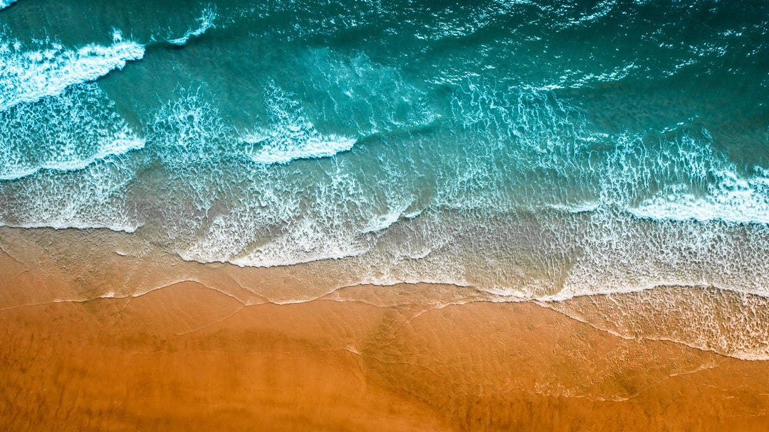 A close up of a wave in the ocean